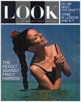 Look Magazine, July 30, 1963 - Lovely lady standing in the ocean