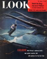 Look Magazine, August 10, 1954 - Man being thrown around by a giant squid