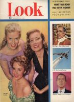 Look Magazine, August 14, 1951 - Three Universal starlets