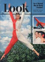 Look Magazine, August 26, 1952 - Leaping in curious red and white jumpsuit
