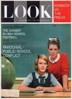 Look Magazine, August 28, 1962 - Two girls in parochial school