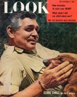 Look Magazine, September 7, 1954 - Clark Gable and his dog