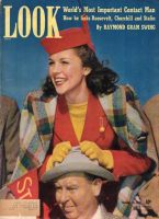 Look Magazine, October 21, 1941 - Woman and man at a university game