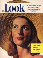 Look Magazine, November 9, 1948 - Woman in a straw hat