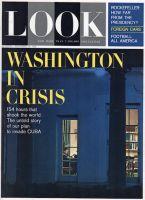 Look Magazine, December 18, 1962 - JFK as viewed through a White House Window at night