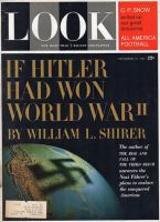 Look Magazine, December 19, 1961 - Rather creepy photo of the world with a Nazi swastika shadow on it