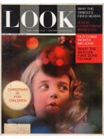 Look Magazine, December 29, 1964 - Child looking at Christmas tree