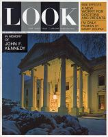Look Magazine, December 31, 1963 - Night view of Christmas White House