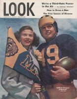 Look Magazine, October 28, 1947 - Football player Bob Chappuis of Michigan and Ann Gestie