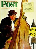 Saturday Evening Post, January 22, 1944 - Bass Fiddle at Bus Stop