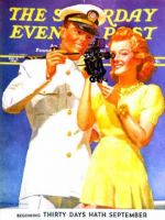 Saturday Evening Post, February 8, 1941 -  Naval Officer & Redhead