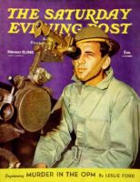 Saturday Evening Post, February 21, 1942 - Soldier Looking Through Range Finder