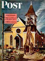 Saturday Evening Post, April 20, 1946 - Church Belfry Repair