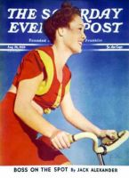 Saturday Evening Post, August 26, 1939 - Bicycling Beauty