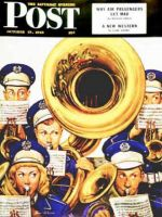 Saturday Evening Post, October 19, 1946 - March Band at Football Game