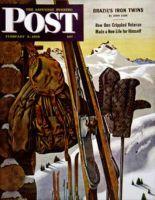 Saturday Evening Post, February 3, 1945 - Ski Equipment Still Life