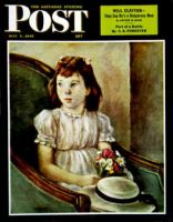 Saturday Evening Post, May 5, 1945 - Portrait of Little Girl