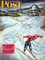 Saturday Evening Post,  January 25, 1947 - Snow Skiier After the Falls