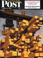 Saturday Evening Post, April 10, 1948 - Oregon Sawmill & Lumberyard