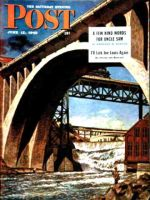 Saturday Evening Post, June 12, 1948 - Fishing Under Bridge