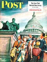 Saturday Evening Post, August 7, 1948 - Tourists in Washington D. C.
