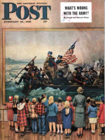 Saturday Evening Post, February 24, 1951 - Washington Crossing the Delaware