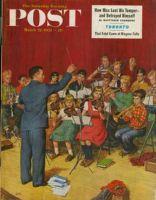 Saturday Evening Post, March 22, 1952 - School Orchestra