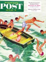 Saturday Evening Post, July 12, 1952 - Rowboat Diving