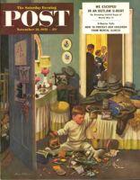 Saturday Evening Post, November 22, 1952 - Toddler Empties Purses