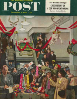 Saturday Evening Post, December 6, 1952 - Department Store at Christmas