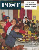 Saturday Evening Post, December 20, 1952 - Crashing Mom's Card Party