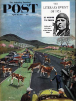 Saturday Evening Post, April 11, 1953 - Slow Mooving Traffic