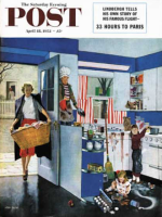 Saturday Evening Post, April 18, 1953 - Mother's Little Helpers