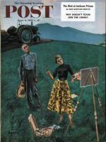 Saturday Evening Post, June 6, 1953 - Farmer and Female Artist in Field