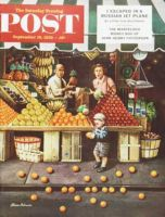 Saturday Evening Post, September 19, 1953 - Toddler and Oranges