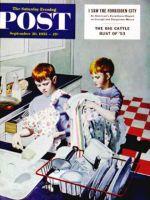 Saturday Evening Post, September 26, 1953 - Dinner Dishes