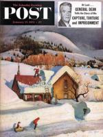 Saturday Evening Post, January 23, 1954 - Deep Snow Fall