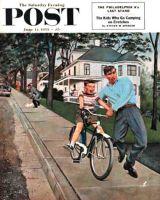Saturday Evening Post, June 12, 1954 - Bike Riding Lesson