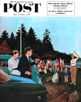 Saturday Evening Post, July 3, 1954 - First Day at Camp