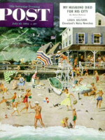 Saturday Evening Post, July 10, 1954 - Thunderstorm at the Shore