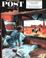 Saturday Evening Post, July 24, 1954 - Train Window on the West