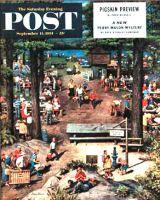 Saturday Evening Post, September 11, 1954 - Labor Day Picnic