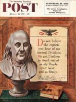 Saturday Evening Post, January 15, 1955 - Benjamin Franklin