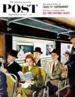 Saturday Evening Post, September 24, 1955 - Pretty Girl on Train