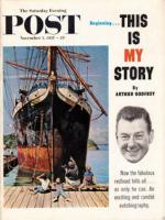 Saturday Evening Post, November 5, 1955 - Big Ship at Dock