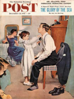 Saturday Evening Post, December 31, 1955 - Fixing Father's Tie