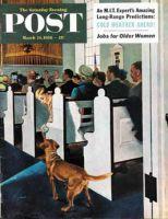 Saturday Evening Post, March 24, 1956 - Dog Walks Down Aisle of Church