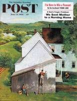 Saturday Evening Post, June 23, 1956 - Helping Dad Paint