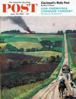 Saturday Evening Post, June 30, 1956 - Chasing the Fire Truck