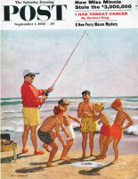 Saturday Evening Post, September 1, 1956 - Big Pole Little Fish